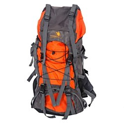 60L Outdoor Waterproof Hiking Camping Backpack Yellow