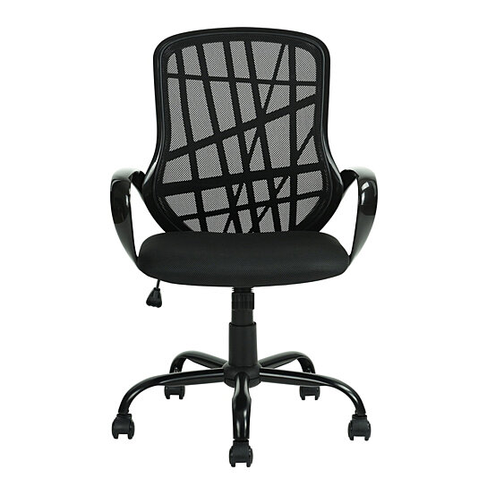 Middle Back Black Metal Five Stars Feet Anomaly Grid Office Chair With Shake By Toping On Opensky