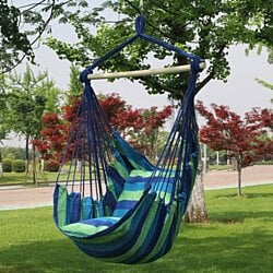 Striped Cushioned Hammock Chair Swing, Mult. Colors