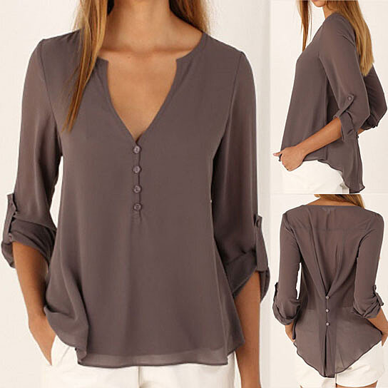 5cbb8673c Trending product! This item has been added to cart 40 times in the last 24  hours. Chiffon Tops Button Down Blouse