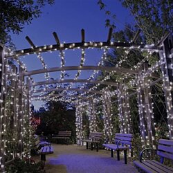 200 Solar-Powered Outdoor LED String Lights- White or Multi-Colored