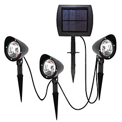 3-in-1 Solar Powered LED Spotlight Set