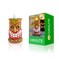 Solar LED Tiki Statue Decoration Light - 2 Styles