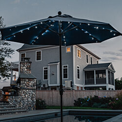 Solar Powered Patio Umbrella Outdoor LED String Lights