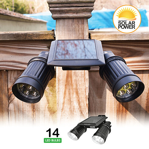 TWINSPOT Solar Motion Activated Dual Spotlight