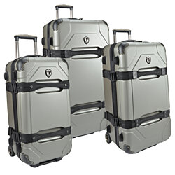 Traveler's Choice Maxporter 3-Piece Polycarbonate Hardside Rolling Trunk Case Luggage Set