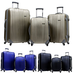 "Traveler's Choice Toronto 3-Piece Lightweight Expandable Hardside Spinners Luggage Set - 21"" 25"" 29"""