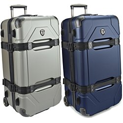 "Traveler's Choice Maxporter 100% Polycarbonate 28"" Large Hardside Rolling Trunk Case Luggage Suitcase Travel Bag in Silver or Navy"