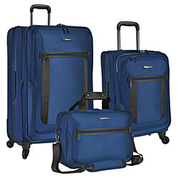 Traveler's Choice St Augustine 3-Piece Ballistic 1680D Lightweight Expandable Spinner Luggage & Tote Bag Set