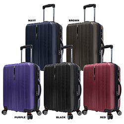 "Traveler's Choice Tasmania 100% Polycarbonate 21"" Carry-on Expandable Spinner Luggage"