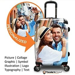 "Traveler's Choice 22"" Customized Print Carry-on Spinner Luggage"