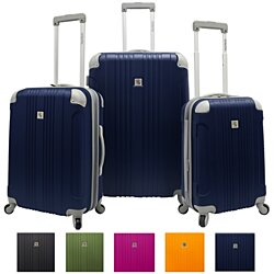 Travelers Choice Beverly Hills Country Club Newport 3-Piece Expandable Spinner Luggage Set