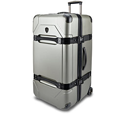 "Traveler's Choice Maxporter 100% Polycarbonate 32"" Extra Large Hardside Rolling Trunk Case Luggage Suitcase Travel Bag in Silver or Navy"