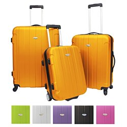 "Traveler's Choice Rome 3-Piece 21"" 25"" 29"" Lightweight Spinner Luggage Set with Bonus TSA Keylock"