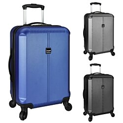"US Traveler 21"" Carry-on Lightweight Hardside Scratch Resistant Spinner Luggage - 3x Colors"