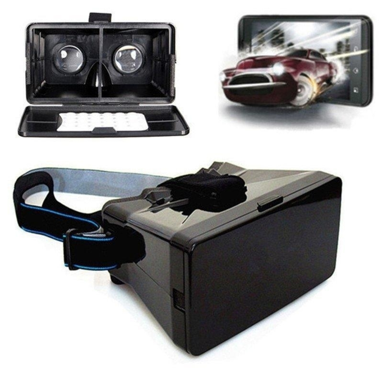 3D Video Glasses Head Mount Plastic Virtual Reality Headset 59a41225c98fc419f9617b85