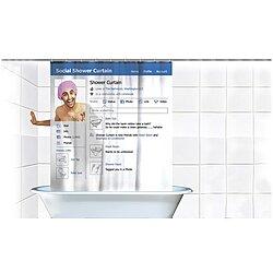 Social Media Facebook Shower Curtain Gag Gift