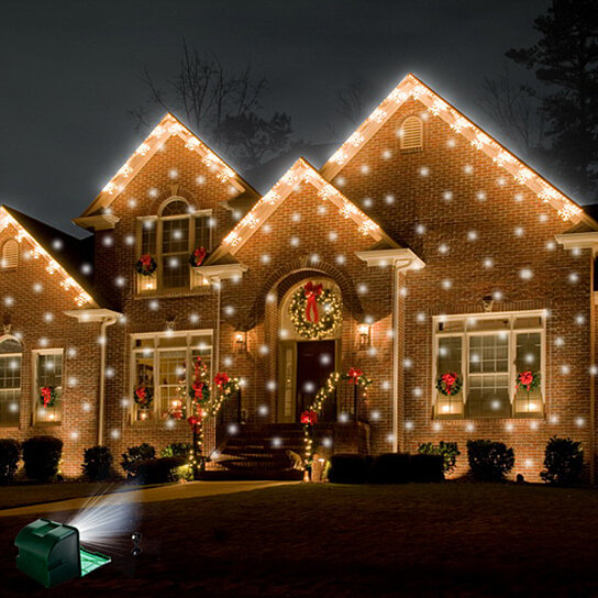 outdoor snow flurry light show christmas holiday projector. Black Bedroom Furniture Sets. Home Design Ideas