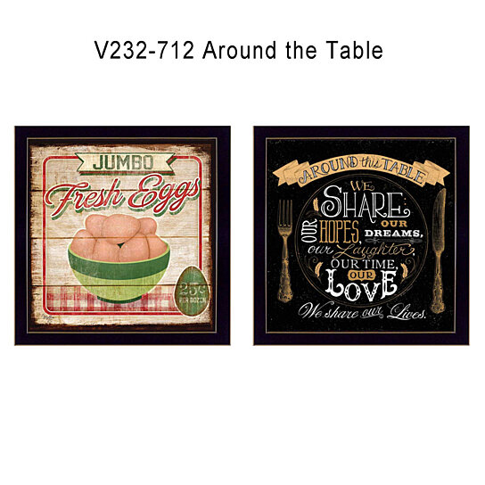 Around The Table Collection By Mollie B And D Strain Printed Wall Art Ready To Hang Black Frame Trendy Decor 4u On Opensky