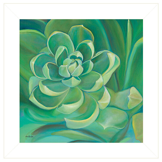 """Buy """"Emerald Succulent"""" By Eve Wheeler, Ready To Hang"""
