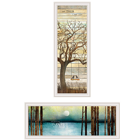 """I met You/Living your Dreams"" 2-Piece Vignette by Marla Rae, White Frame"