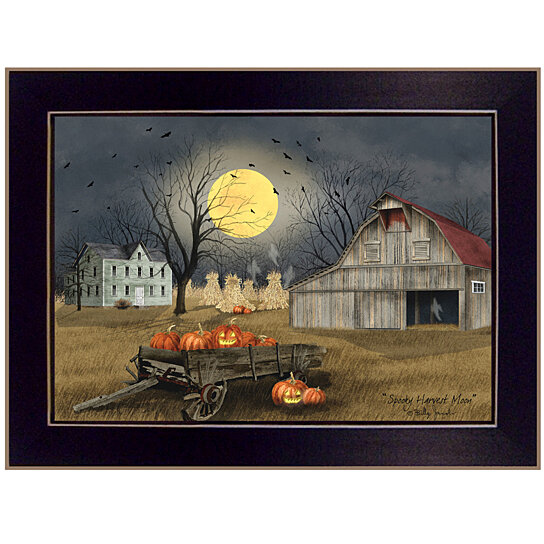 Buy Quot Spooky Harvest Moon Quot By Billy Jacobs Ready To Hang