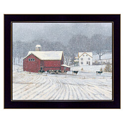 """The Home Place"" by Bonnie Mohr, Ready to Hang Framed Print, Black Window-Style Frame"