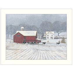 """The Home Place"" by Bonnie Mohr, Ready to Hang Framed Print, White Window-Style Frame"