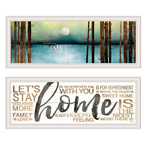 "V558-226G ""Love / Home"" 2-Piece Vignette by Marla Rae, White Frame"