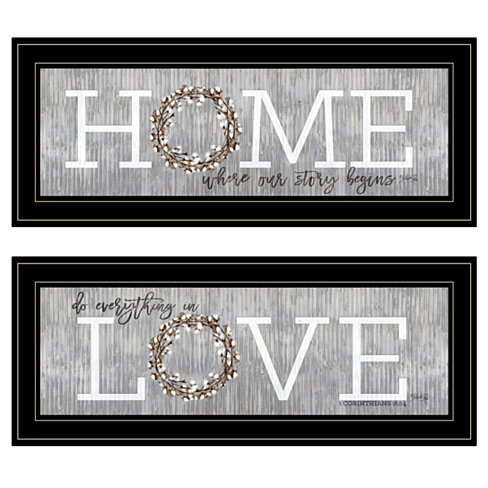 """Where Our Story Begins"" 2-Piece Vignette by Marla Rae, Black Frame"