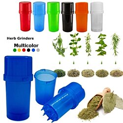Plastic Tobacco Grinder Herb Spice Grinder with Storage Container