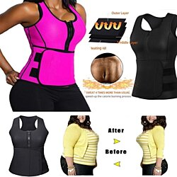 Slimming Thermal Waist Trainer Vest With Belt
