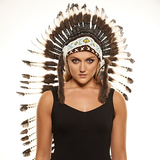 Inspired Indian Headdress XH005 Native American Chief Hat Hand Made Indian  War Bonnet (43