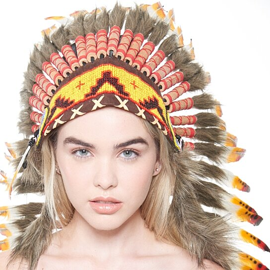 Inspired Indian Headdress XH014 Native American Chief Hat Hand Made Indian  War Bonnet (43