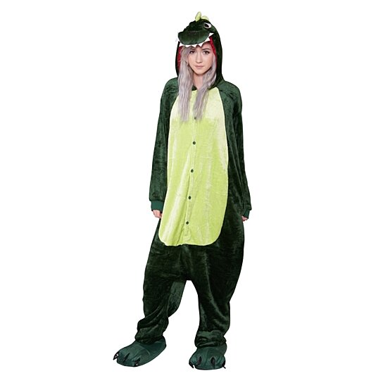 DINOSAUR Onesie Soft Plush Cute Comfortable Animal Adult Pajama Rave Costume Size S-XL Unisex  sc 1 st  OpenSky & Buy DINOSAUR Onesie Soft Plush Cute Comfortable Animal Adult Pajama ...
