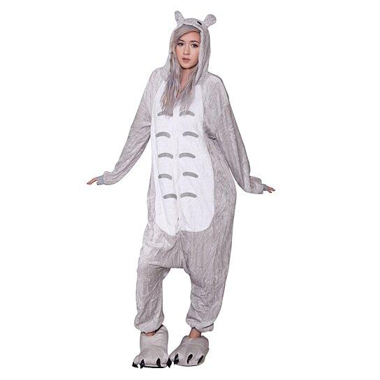 fc797fa67c7f Buy TOTORO BUNNY Onesie Soft Plush Cute Comfortable Animal Adult Pajama  Rave Costume Size S-XL Unisex by TribalCostumes on OpenSky