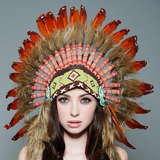 Inspired Indian Headdress SH020 Native American Chief Hat Hand Made Indian  War Bonnet (30