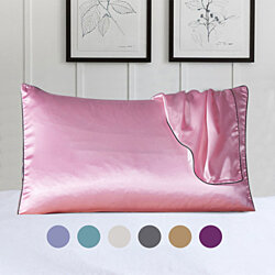 100% Silk Pillow Cover With Trim - 7 Colors