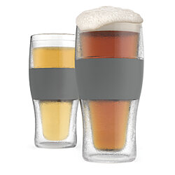 FREEZE  Cooling Pint Glasses (Set of 2) by HOST