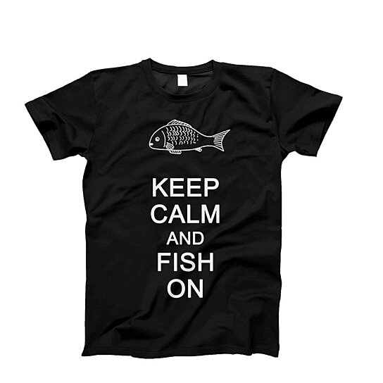 Buy Keep Calm And Fish On Shirt Novelty Shirt Custom T