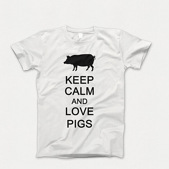 Buy Keep Calm And Love Pigs Shirt Novelty Shirt Custom