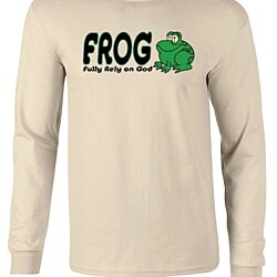 Christian Fully Rely on God FROG Long Sleeve T-Shirt
