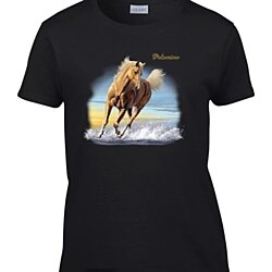 Ladies Beautiful Palomino Horse Women's T-Shirt