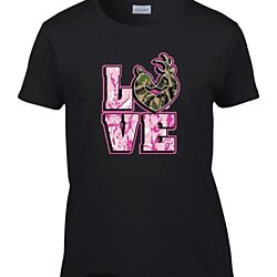 Ladies Love Camo Deer Couple Hunting Women's T-Shirt