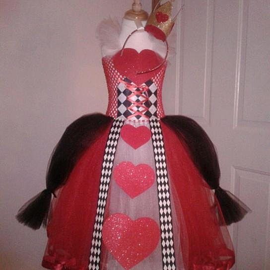 Buy Queen of Hearts Inspired Dress(3M-4T) by Tulle Time ...