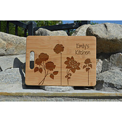 Personalized bamboo cutting board engraved custom boards Personalized Mothers' Day Gift For Mother Love Present Engraved Gift