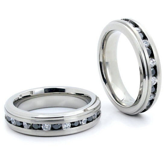 Buy titanium wedding band quot free engraving quot titanium for Engraving on mens wedding rings