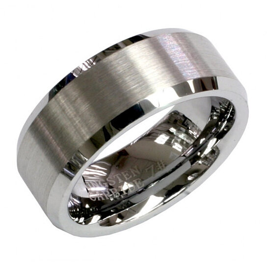 ENGRAVING MMDTR003 8mm Tungsten Carbide Engagement Ring By Tungsten