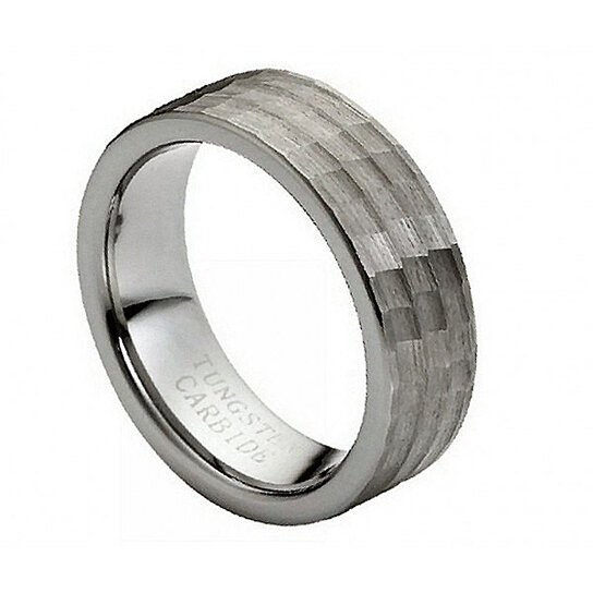 ENGRAVING MMTR112 Tungsten Carbide Engagement Ring By Tungsten Band