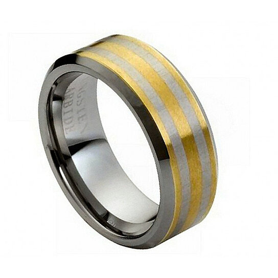 ENGRAVING MMTR133 Tungsten Carbide Engagement Ring By Tungsten Band